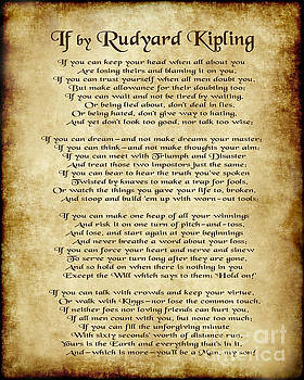 If by Rudyard Kipling - Parchment Style by Ginny Gaura