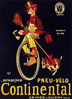 If only I had a Continental bicycle tire advertising poster 1909 by Vintage Printery