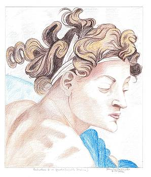 Ignudo Sistine Chappel Michelangelo by Bernardo Capicotto