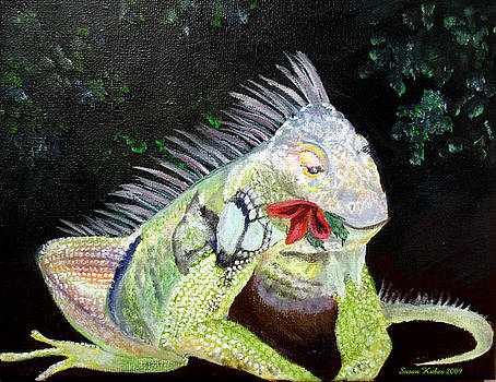 Iguana Midnight Snack by Susan Kubes