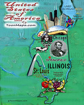Kevin Middleton - Illinois Fun Map