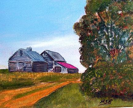 Illinois Old Barn and Tree by Maria Soto Robbins