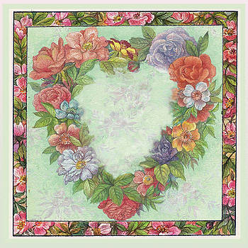 Illustrated Heart Wreath by Judith Cheng