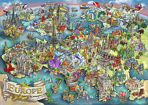 Maria Rabinky - Illustrated Map of Europe