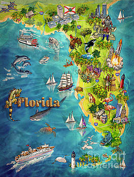 Maria Rabinky - Illustrated Map of Florida