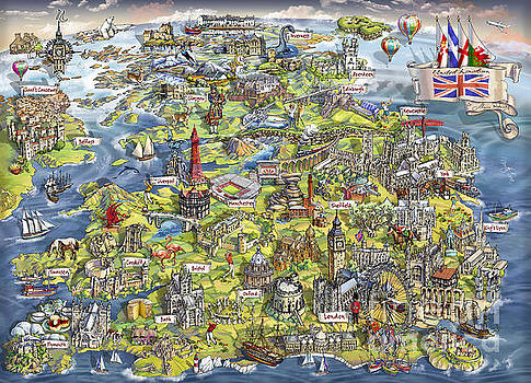 Maria Rabinky - Illustrated Map of the United Kingdom