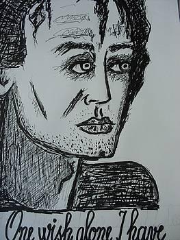 Illustration Of Eminescu by Elena Buftea