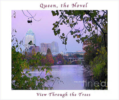 Felipe Adan Lerma - Image Included in Queen the Novel - View of Austin Through the Trees Enhanced Poster