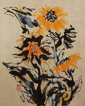 Image Of Sunflower3 by Xiaochuan Li