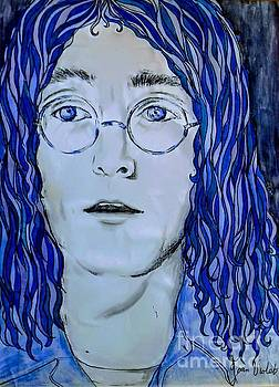 Imagining John Lennon in Blue 2 by Joan-Violet Stretch