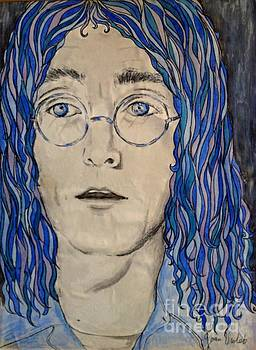 Imagining John Lennon in Blue by Joan-Violet Stretch