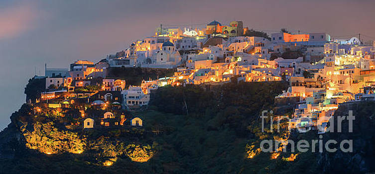 Imerovigli after sunset, Santorini by Henk Meijer Photography