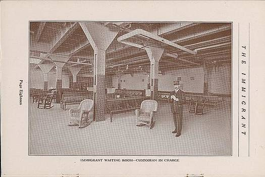 Chicago and North Western Historical Society - Immigrant Waiting Room and Custodian in Charge