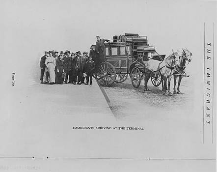 Chicago and North Western Historical Society - Immigrants Arriving at Terminal - 1912