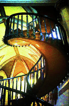 Immortal Staircase - Contemplative Version by Miko At The Love Art Shop