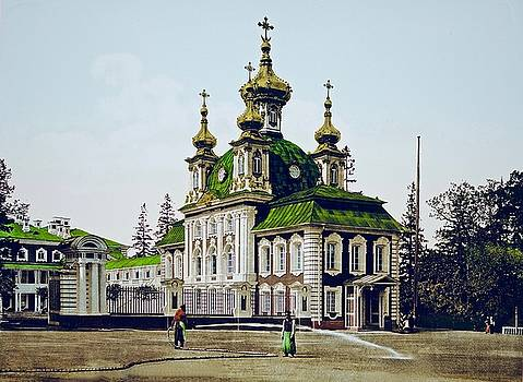 Imperial Chapel At Peterhof by Ira Shander