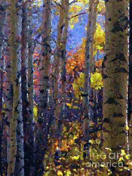 Impression of Fall Aspens by Annie Gibbons