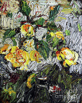 Ginette Callaway - Impressionism Last Yellow Roses