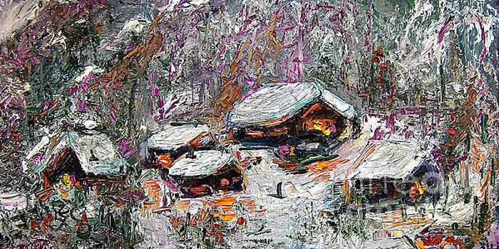 Ginette Callaway - Impressionism Winter Cabins