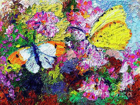 Ginette Callaway - Impressionist Butterflies in Summer Garden
