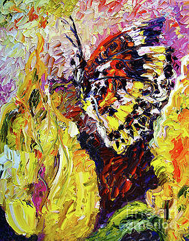Ginette Callaway - Impressionist Butterfly Yellow Flower