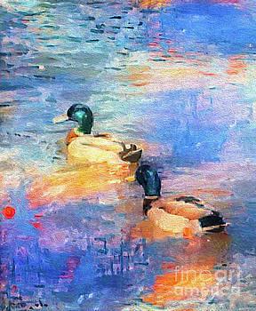 Impressionist Ducks by Nina Silver