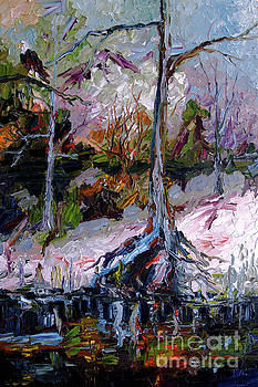 Ginette Callaway - Impressionist Landscape Portrait Wetland Tree