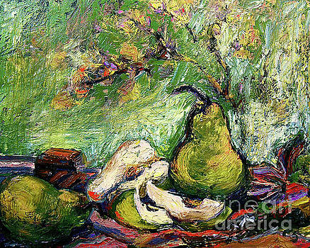 Ginette Callaway - Impressionist Pears and Chocolate oil Painting