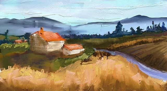 Impressionist Wheat Fields by Hannah Starrett Wright