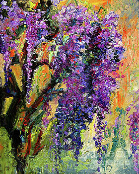 Ginette Callaway - Impressionist Wisteria Flowers