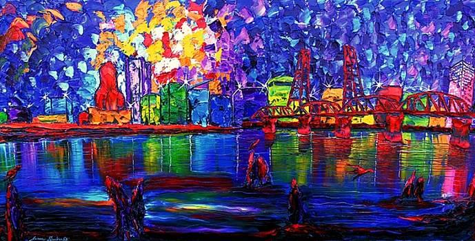 Impressionistically Portland #1 by Portland Art Creations