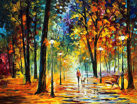 Improvisation Of Nature - PALETTE KNIFE Oil Painting On Canvas By Leonid Afremov by Leonid Afremov