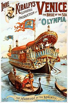 Imre Kiralfys gorgeous production of Venice at Olympia, performing arts poster, 1891 by Vintage Printery