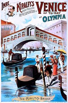 Imre Kiralfy's great realistic representation of Venice of to-day at Olympia, performing arts poster, 1891 by Vintage Printery