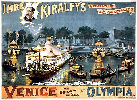 Imre Kiralfys Venice the bride of the sea, performance poster, 1891 by Vintage Printery
