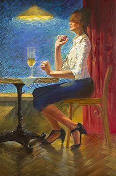 In a cafe by Misha Lapitskiy