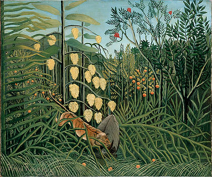 Henri Rousseau - In A Tropical Forest