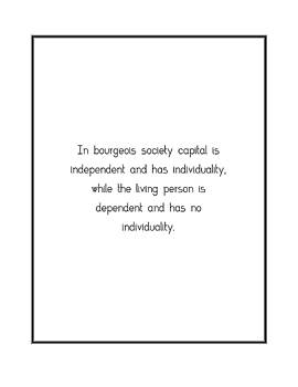 In bourgeois society capital is... by Famous Quotes