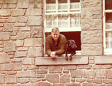 In Edinburgh Scotland - A Scotsman And His Dog by Merton Allen