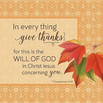 In Every Thing Give Thanks by Robin Chaffin
