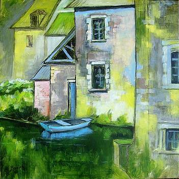 In front of the watermill by Cathy MONNIER