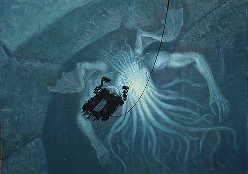 In Sunken R'lyeh Dead Cthulhu Lies Dreaming by Armand Cabrera