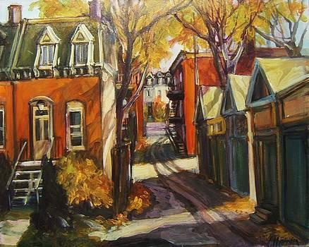 In the Alley by Ingrid Harrison