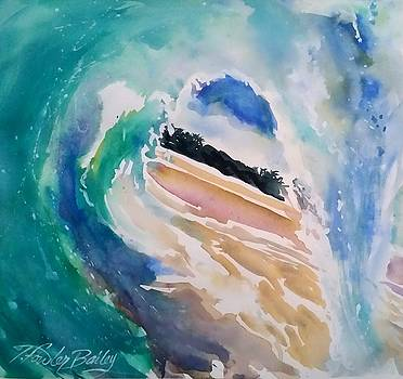In the Curl at Waimea HI by Therese Fowler-Bailey