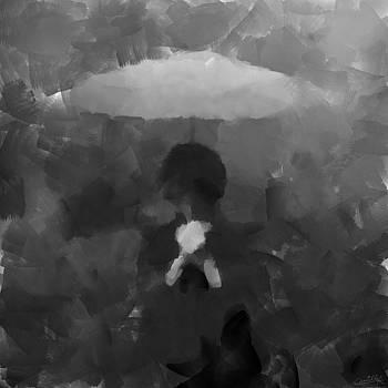 In the Rain - Abstract Dark Art by Camille Kleinman