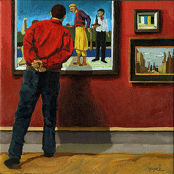In The Red - painting by Linda Apple