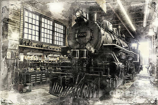 In the Roundhouse by Brad Allen Fine Art