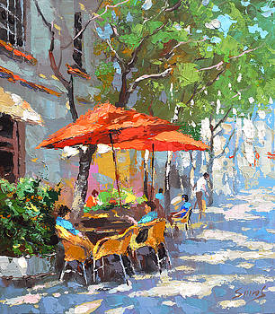 In The Shadow Of Cafe by Dmitry Spiros