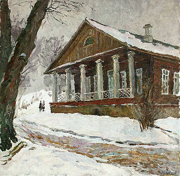 In the silence of the snow covered park by Juliya Zhukova