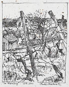 Martin Stankewitz - in the vineyard ink drawing